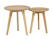 Juego de mesas auxiliares - Juego de mesas auxiliares, fabricado en MDF laminado en Roble