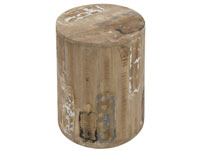 Taburete Roan cylinder - Taburete Roan cylinder, fabricado en madera de trembesi