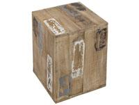 Taburete Roan Kubus - Taburete Roan Kubus, fabricado en madera de caucho