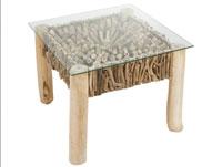 Mesa auxiliar Deco cuadrada - Mesa auxiliar Deco cuadrada, fabricado en madera de mindi