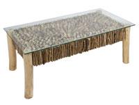 Mesa de centro Deco - Mesa de centro Deco, fabricado en madera de mindi