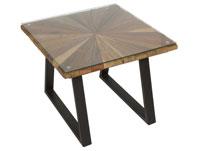 Mesa de centro Sun cuadrada - Mesa de centro Sun cuadrada, fabricado en madera de mindi