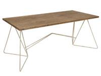 Mesa de comedor Florence - Mesa de comedor Florence, fabricado en madera de abeto y forja