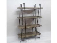 Estantería de madera y metal - Estantería de madera y metal, fabricada en madera y metal acabado vintage