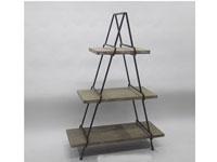 Estantería de madera y metal triangulo - Estantería de madera y metal triangulo, fabricado en madera y metal