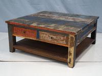 Mesa de centro Solo Vintage - Mesa de centro Solo Vintage, fabricado a mano en madera de mahogany