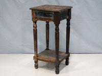 Pedestal con cajón Solo Vintage - Pedestal con cajón Solo Vintage, fabricado a mano en madera de mahogany