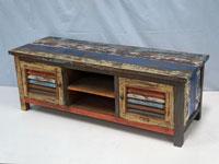 Mesa de televisión Solo Vintage - Mesa de televisión Solo Vintage, fabricado a mano en madera de mahogany