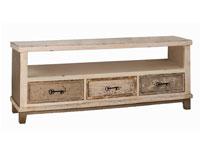 Mesa de TV Madrás - Mesa de TV Madrás, fabricado en mdf y madera de pino