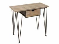 Consola 1 cajón forja madera - Consola 1 cajón forja madera