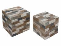Juego de dos taburetes Cube - Juego de dos taburetes Cube