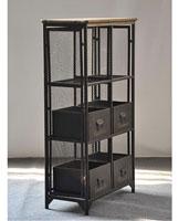 Estantería Dalton 4 cajas - Estantería Dalton 4 cajas fabricado en hierro y madera de abeto