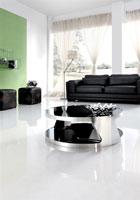 Mesa de centro 207 - Mesa 207, baja, acero inoxidable, cristal, 90 cms