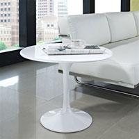Mesa TUL 60 - Mesa TUL 60, baja, aluminio, lacada blanca, 60 cms