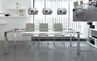 Mesa de comedor extensible Rosa - Mesa de comedor extensible Rosa, Cuadrada o rectangular