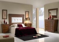 Composición muebles de dormitorio 2 - Composición de muebles de dormitorio de madera