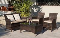 Set sofá con sillones y mesa TRÍPOLI - Set de muebles de jardín, Sofá 2 plazas, 2 sillones y mesa modelo Trípoli