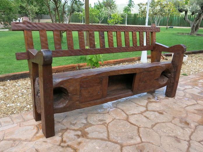 Banco de madera Kenia - Banco de madera Kenia
