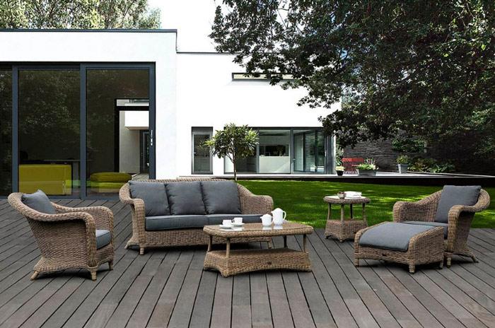 Muebles De Rattan Para Exterior : Muebles ratt�n sent? tico con estructura aluminio
