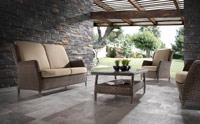 Conjunto sofás jardín de rattan - Con tapicería incluída