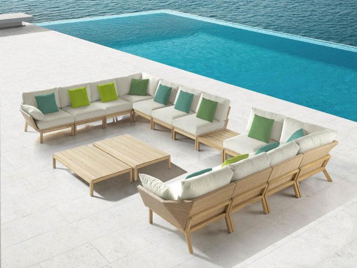 Sofa modular para exterior Reggae