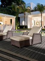 Tumbona para exteriores - Tumbona de diseño moderno