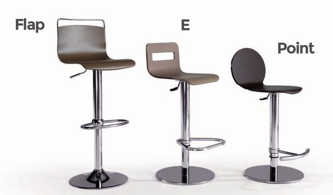 Taburetes Flap, Point, o E - Taburetes Flap, Point, o E, estructura metálica
