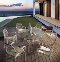 Mesa redonda o sillas de exterior Juncos - Mesa redonda o silla de exterior Juncos