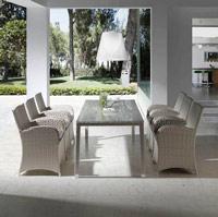 Mesa de exteriores o sillones paradise - Mesa comedor moderna o sillones de exterior Paradise