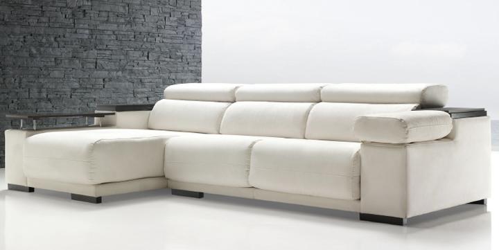 Sof martini asientos desplazables respaldos reclinables for Sofa minimalista
