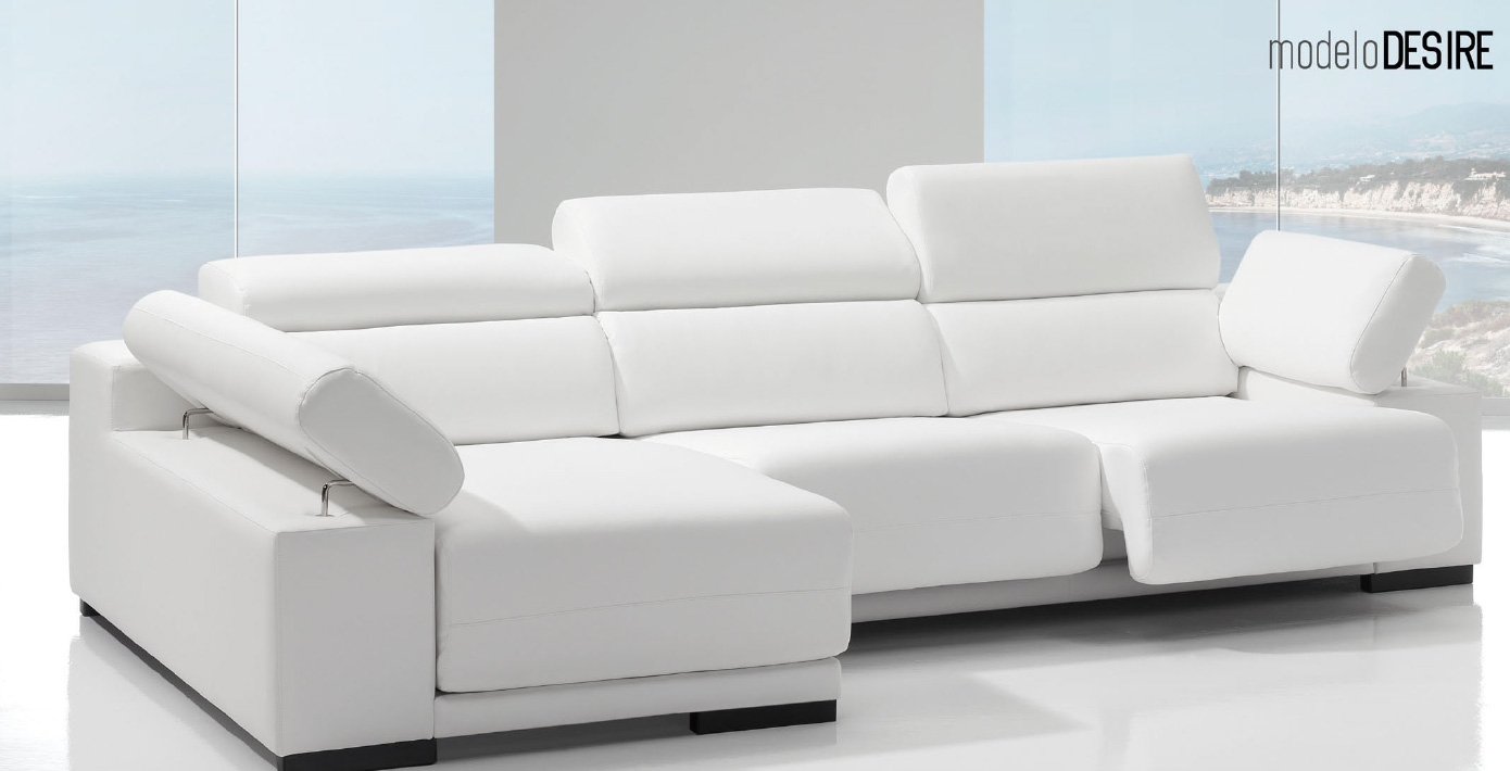 Sof desire respaldo reclinable asiento deslizable - Sofas italianos modernos ...