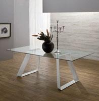 Mesa de comedor Mr BIG VETRO - Mesa de comedor Mr BIG VETRO, fabricada en metal y vidrio