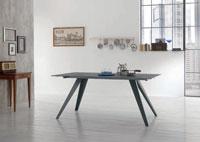 Mesa de comedor PIKE - Mesa de comedor PIKE, fabricada en metal y vidrio