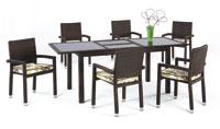 Set de sillones y mesa  - Set de sillones, mesa extensible y cojines