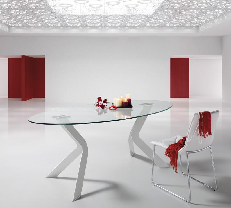 Mesa ovalada moderna for Mesa comedor ovalada