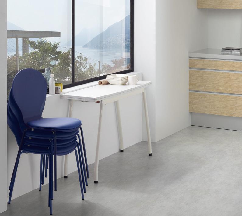 Mesa cocina blanca - Mesas de cocina plegables de pared ...