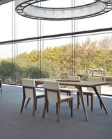 Mesa de comedor en madera chapada de nogal dt605 - Mesa de comedor en madera chapada de nogal dt605