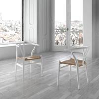 Silla en madera de haya  asiento tejido natural DC541 - Silla en madera de haya con asiento tejido en cordón natural
