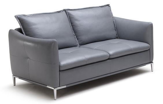 Sofás 3 y 2 plazas tapizados en piel gris - Sofás 3 y 2 plazas tapizados en piel gris