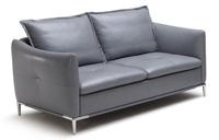 Sofás 3 y 2 plazas tapizados en piel gris
