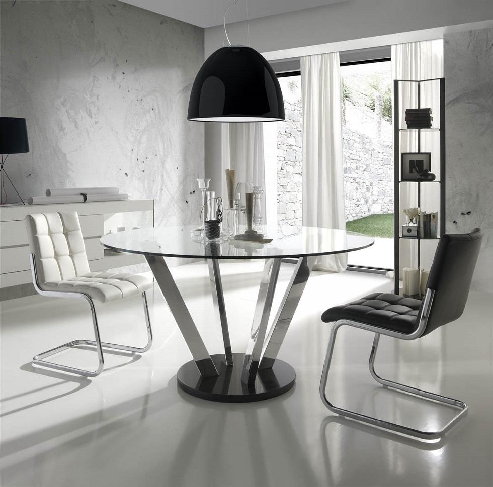 Silla comedor acolchada varios colores moderna arag n for Comedores con sillas altas