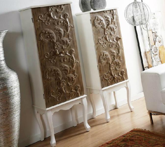 Adesivo Decorativo Infantil De Parede ~ Mueble auxiliar de madera tallada
