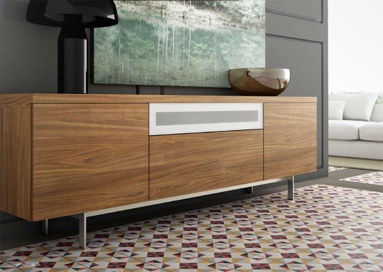 Aparador moderno color madera - Aparadores salon modernos ...