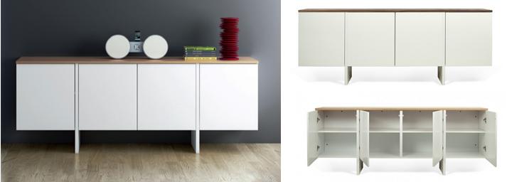 Aparadores estanteria y librerias vitrinas repisa - Aparadores salon modernos ...