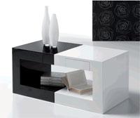 Mesa de centro combinable DOS - Mesa de centro cuadrada con cajón modelo DOS