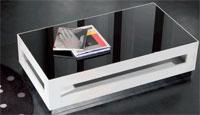 Mesa de centro cristal decorativo LUX - Mesa de centro cristal decorativo modelo LUX