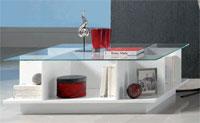 Mesa de centro con cristal modelo MOMA - Mesa de centro con cristal modelo MOMA