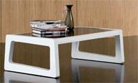 Mesa de centro rectangular tapa de cristal ONE - Mesa de centro rectangular tapa de cristal ONE