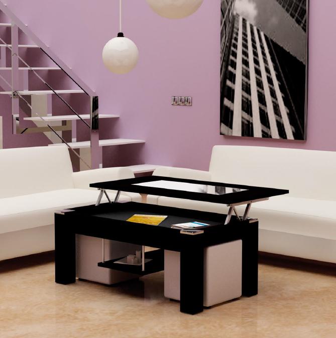 mesa de centro nueva temporada tablero elevable y extensible