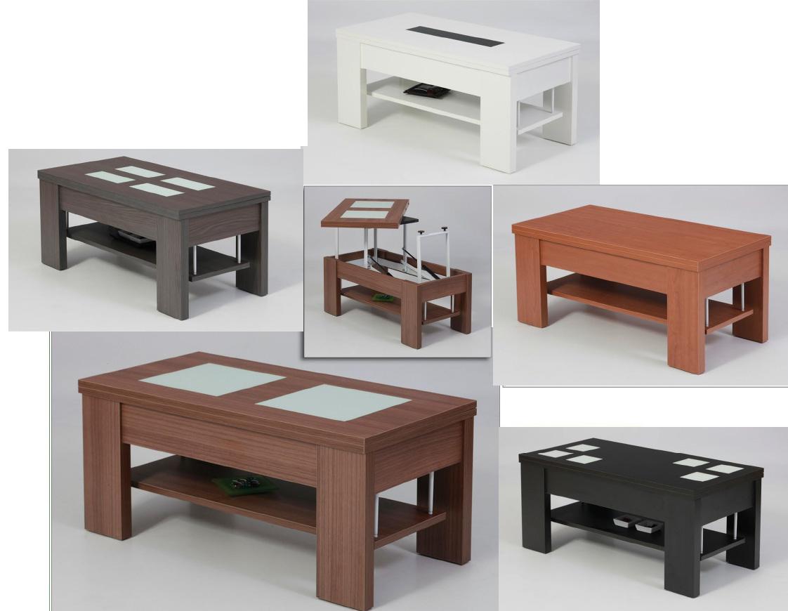 Mesa de centro nueva temporada tablero elevable y extensible - Conforama mesa centro elevable ...